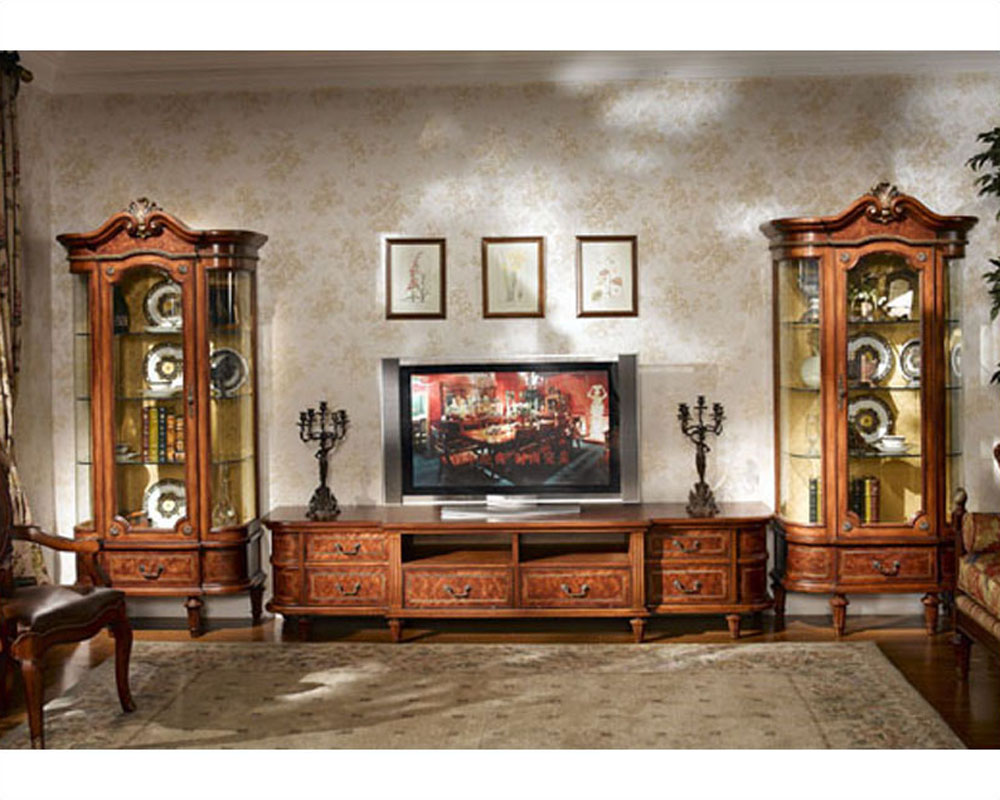 Infinity Furniture Entertainment Center Louis Xvi Inlv 652set