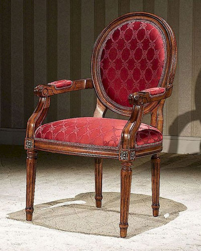 Italian Classic Style Arm Chair Louis Xvi Inlv721 Set Of 2