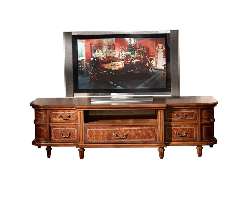 infinity furniture low tv console louis xvi inlv -