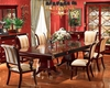 Infinity Furniture Set w/ Pedestal Dining Table Gigasso INGI-81209SET