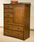 Intercon 1 Door Chest Oak Park IN-OP-BR-5806D-MIS-C
