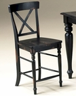 "Intercon 24"" X-Back Bar Stool Roanoke INRNBS725W24 (Set of 2)"