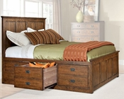 Intercon 3 Drawer Storage Bed Oak Park IN-OP-BR-5850-3BED
