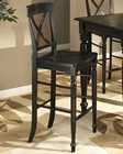 "Intercon 30"" X-Back Bar Stool Roanoke INRNBS725W30 (Set of 2)"
