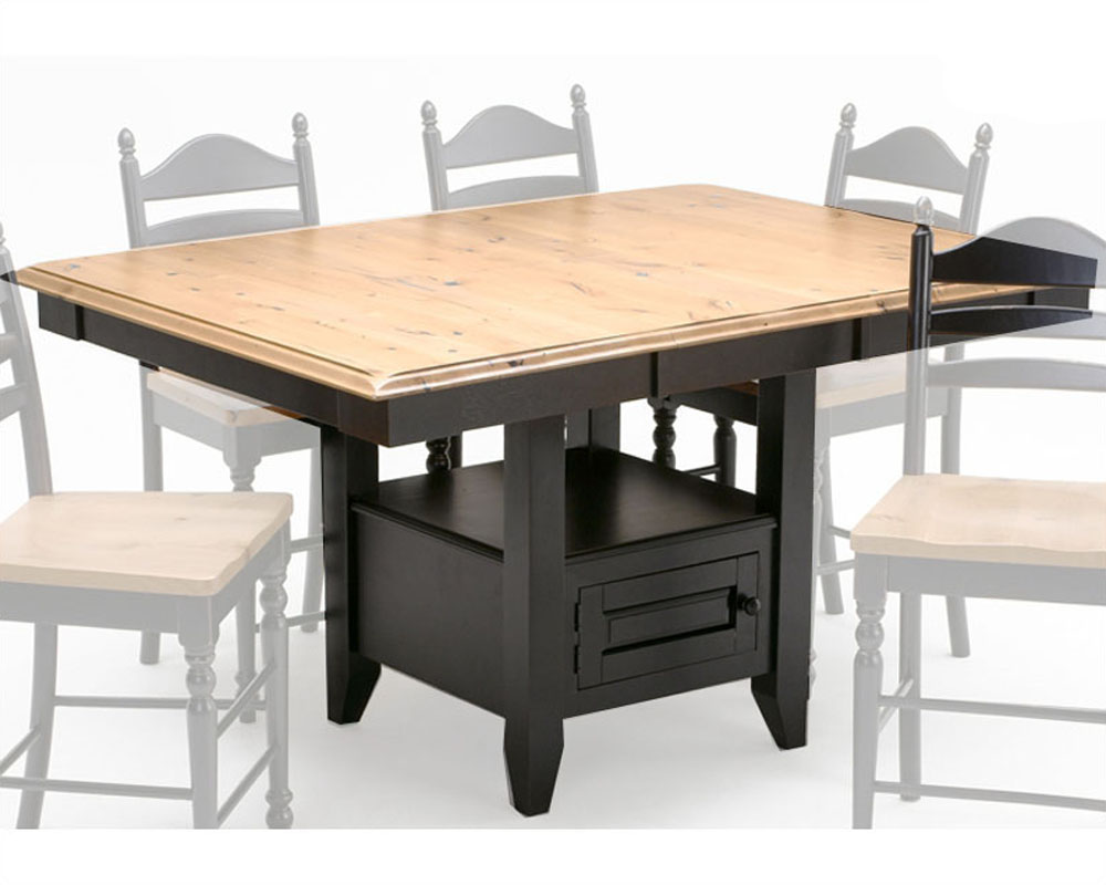 Intercon Bar Table W Base Hillside Village Inhv 4866gi Tab