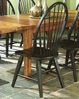Intercon Black Side Chair Rustic Traditions INRTCHN1408 (Set of 2)