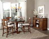 Intercon Counter Height Dining Set Luciano INLC-TA-4848G-TBS-SET