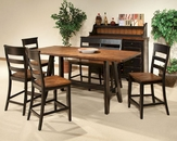 Intercon Counter Height Dining Set Winchester IN-WN-TA-3678G-BHN-SET