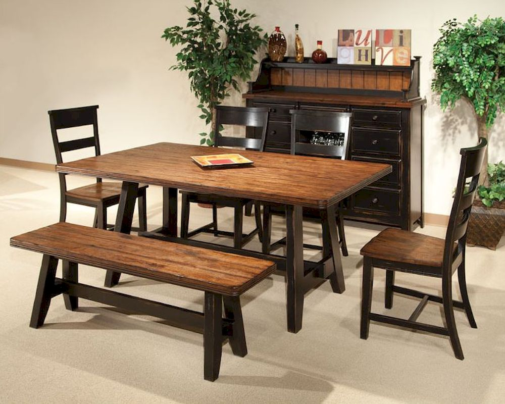 Intercon dining room set winchester in wn ta 4270 bhn set for Informal dining room tables