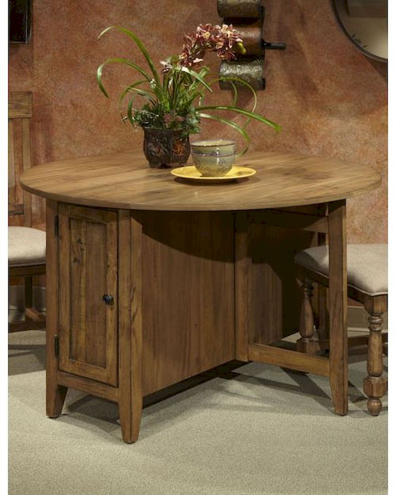 Intercon Dining Round Table W Storage Rhone Inrh Ta 4848d