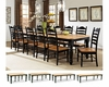 Intercon Dining Set w/ 30in High Legs Hillside Village INHV-TURN-SET