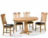 Intercon Dining Set w/ Pedestal Table Family INFD-TA-L4260-CNT-SET