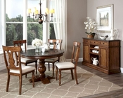 Intercon Dining Set w/ Pedestal Table Luciano INLC-TA-4848-TBS-SET