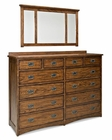 Intercon Dresser and Mirror Oak Park IN-OP-BR-5812-5891-MIS-C