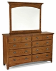 Intercon Dresser and Mirror Pasadena Revival INPR540891