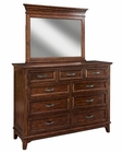 Intercon Dresser and Mirror Star Valley INSR-BR-6209-6291-RCY-C