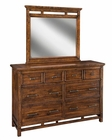 Intercon Dresser and Mirror Wolf Creek INWK-BR-6106-6191VAC-C