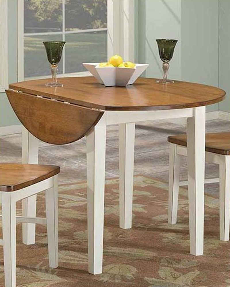 Drop Leaf Round Dining Table Arlington INAR4242DTAB