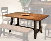 Intercon Fixed Top Dining Table Winchester IN-WN-TA-4270-BHN-TAB