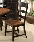 Intercon Ladder Back Chair Winchester IN-WN-CH-289W-BHN (Set of 2)