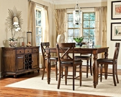 Intercon Mango Wood Counter Height Dining Set INKG5454GSET