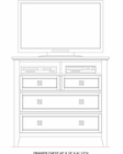 Intercon Media Chest Alta IN-AL-BR-5303MC-BAS-C