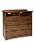 Intercon Media Chest Oak Park IN-OP-BR-5806MC-MIS-C