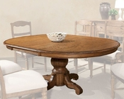 *Intercon Pedestal Dining Table La Rive IN-LR-TA-5478-BAL