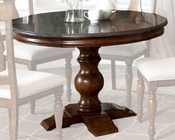 Intercon Pedestal Dining Table Luciano INLC-TA-4848-TBS