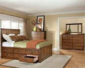 Intercon Set w/ 6 Drawer Storage Bed Oak Park IN-OP-BR-5850-6SET