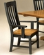 Intercon Slat Back Arm Chair Rustic Mission INRMCHN360A (Set of 2)