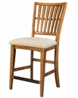 Intercon Slat Back Barstool Lucca INLU-BS-1160C-RBS-K24 (Set of 2)
