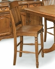 Intercon Slat Back Pub Chair Classic Oak INCOBS1110 (Set of 2)