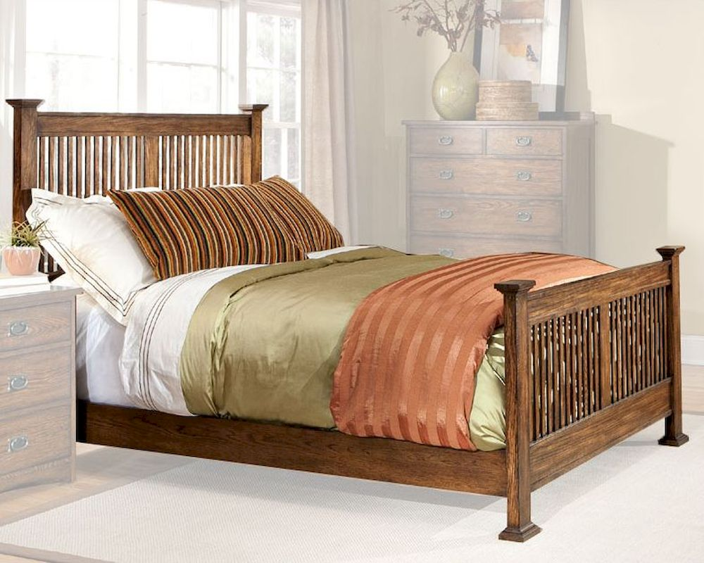Intercon Slat Bed Oak Park In Op Br 5825bed