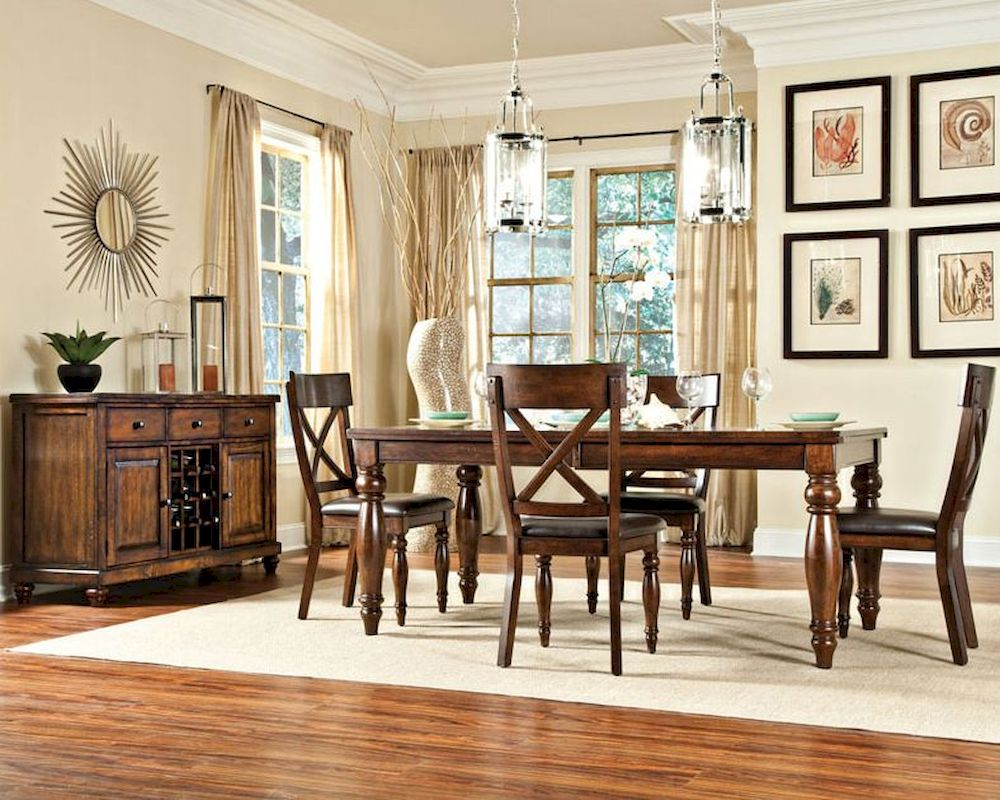 Intercon Solid Mango Wood Dining Set Kingston Inkg4290bset