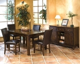 Intercon Solid Mango Wood Dining Set Kona INKA4278BSET