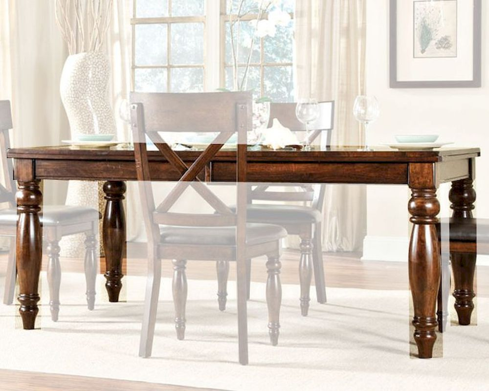 Intercon solid mango wood dining table kingston inkg4290btab for Mango wood dining table