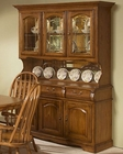 "Intercon Solid Oak 60"" Buffet and Hutch Classic Oak INCO3050BH"