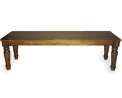 Intercon Solid Oak Backless Bench Monastery INMYCH1550W
