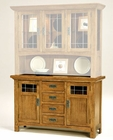 Intercon Solid Oak Buffet Rustic Mission INRM5731