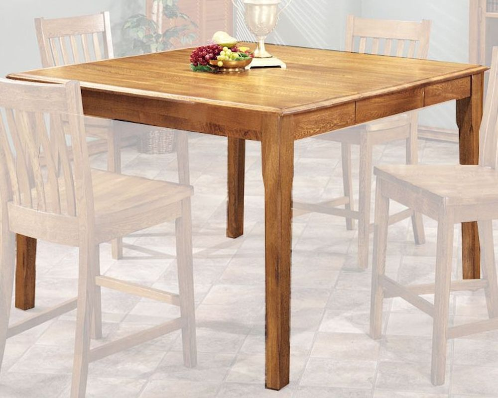 Intercon Solid Oak Counter Height Dining Table Cambridge INCB5454GTAB