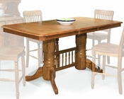 Intercon Solid Oak Counter Height Table Classic Oak INCOI4078TAB