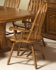 Intercon Solid Oak Detailed Arrow Back Arm Chair INCO247SHA (Set of 2)