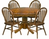 Intercon Solid Oak Dinette Set Classic Oak INCO42DSET