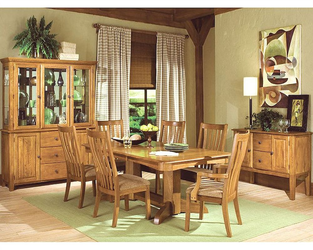 Solid Oak Dining Room Furniture ~ Intercon solid oak dining set highland park inhp