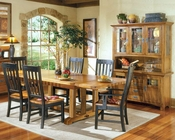 Intercon Solid Oak Dining Set Rustic Mission INRM44108SET