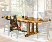 Intercon Solid Oak Dining Table Rustic Mission INRM44108TAB