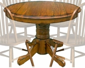 Intercon Solid Oak Drop Leaf Table Classic Oak INCO42DTAB