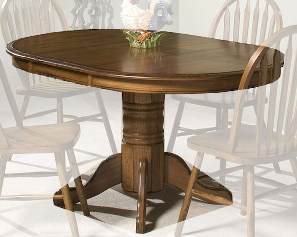 Oak Pedestal Table ~ Intercon solid oak pedestal dining table classic