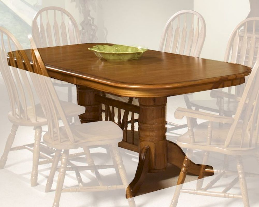 Intercon Solid Oak Trestle Dining Table Clic Incoi4296tab